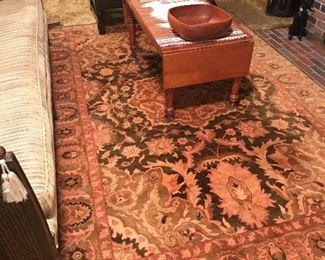 Nice wool rug, with drop leaf coffee table.