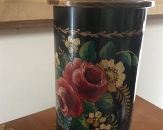Tole painted lamp