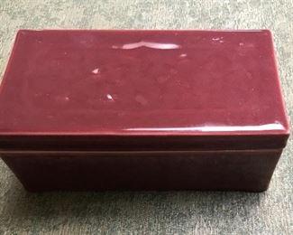 Rookwood Plum colored box. 1920's