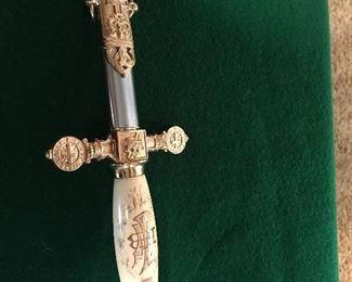 Masonic sword Ivory handle