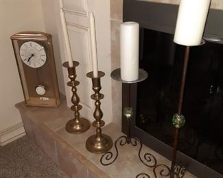 Nice variety of candlesticks and candles