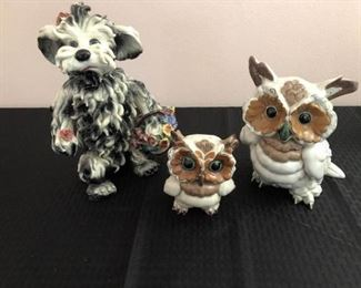 Pottery Owls & Dog https://ctbids.com/#!/description/share/207761