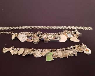 Vintage Sterling Charm Bracelet with US and Travel Charms https://ctbids.com/#!/description/share/208956