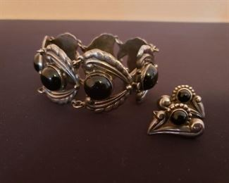 Sterling Bracelet & Earrings from Mexico https://ctbids.com/#!/description/share/208409