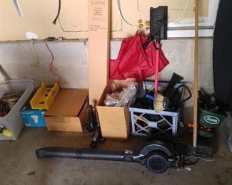 Blower, supplies, car related stuff