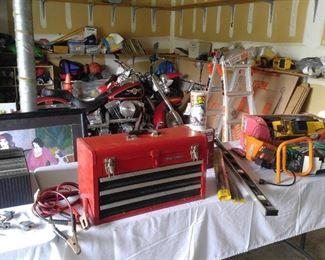 Tools, tool box, supplies