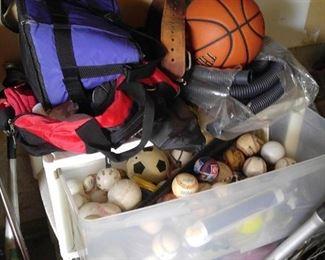 Lots of sports equipment