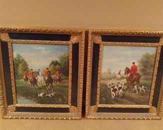 Pair country paintings