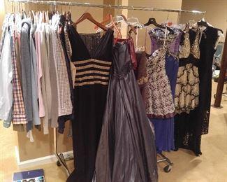 Men's & ladies clothes, gowns