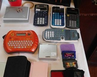 Calculators, hand held game systems, etc
