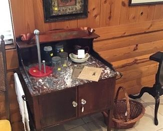 English antique wash stand