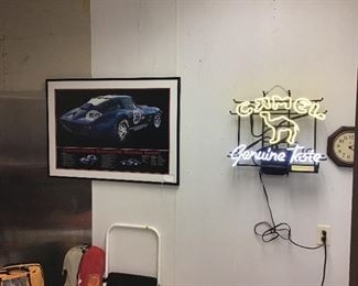 Neon sign and car pick