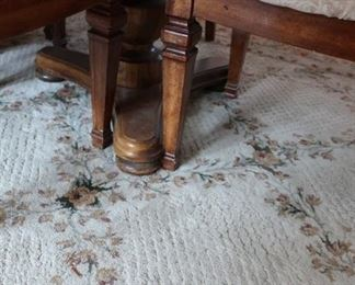 another view  of  table, area  rug