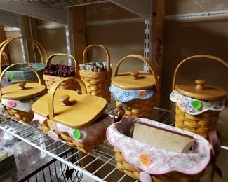 Hundreds of Longaberger baskets