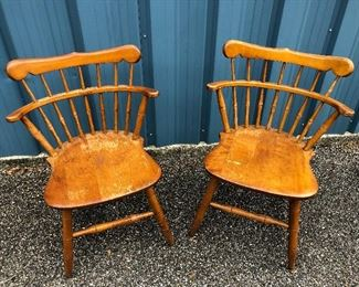 Pair of Windsor Back Chairs