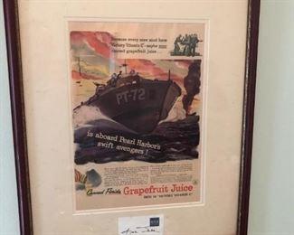 Antique Framed Advertising