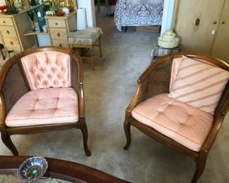 Cane Sided Chairs