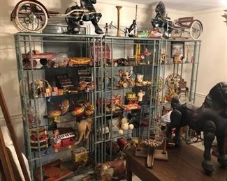 Tons of vintage and antique tin toys and more!