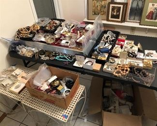 Vintage jewelry treasure hunt! Sterling silver tons of signed pieces some gold pocket watches and more