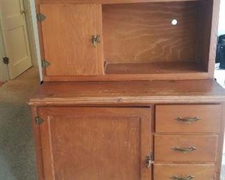 Vintage Hoosier style cabinet