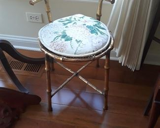 Bamboo motif seat  made of metal