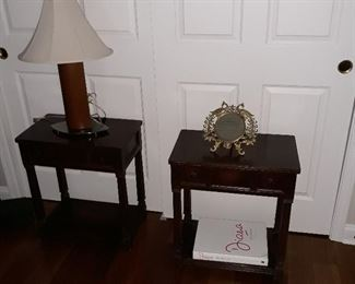 Pair of side tables with drawers
