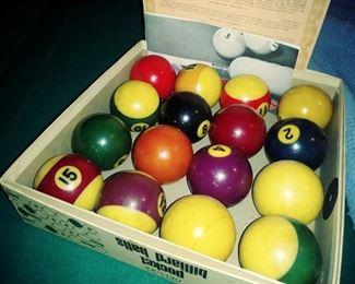AMF Billiard balls