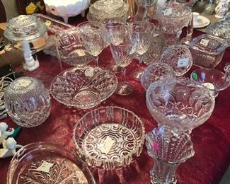 Chrystal bowls and glasses