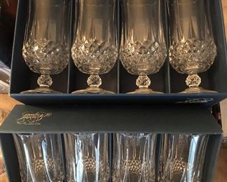 Two sizes Chrystal drinking glasses