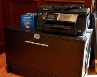 Epson printer and combination lock file cabinet