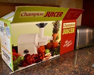 Champion juicer and Cuisinart toaster