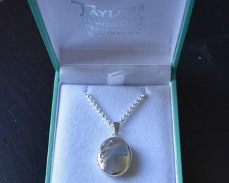 Silvertone locket