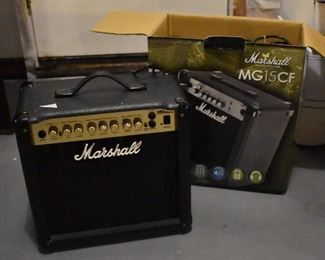 2 Marshall practice amps