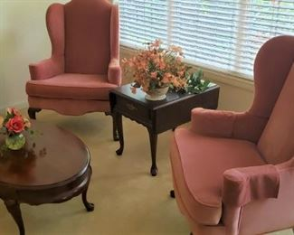 Queen Anne Furniture plus Beautiful Pair of Wingback Chairs
