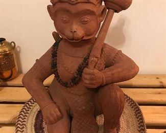 Terra Cotta Monkey Buddha