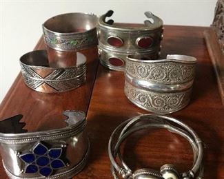 Indian silver cuffs