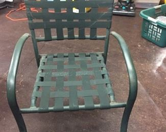Set of 4 outdoor chairs