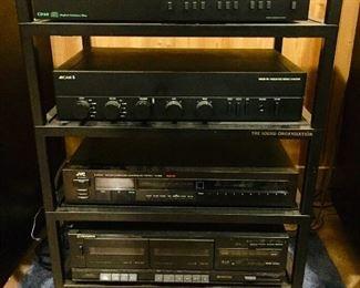 Stereo equipment plus rack