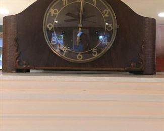 Junghan German  Oak Mantel Clock