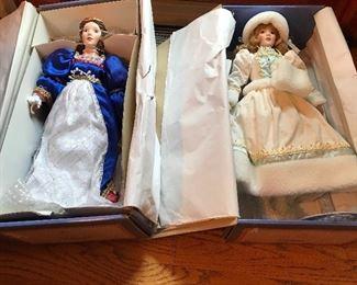 Gorham heroine series, Lara, Juliette, with music boxes