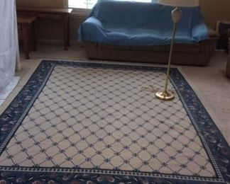 Area rug lamp