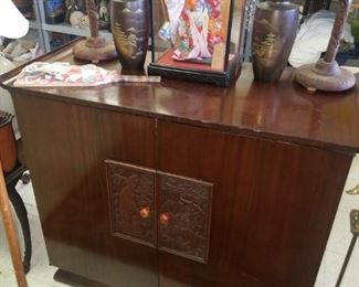 Asian record cabinet