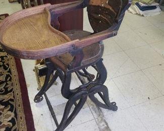 Victorian highchair