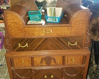 Vintage chest of drawers with hatboxes built in.