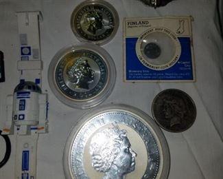 10oz, 5oz, and 1oz solid silver Australian coins