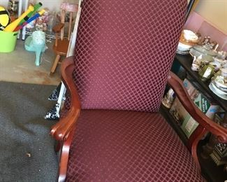 Nice solid seat, wood legs and arms Sitting Chair