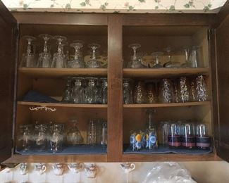 More glasses and stemware all $.25 ea