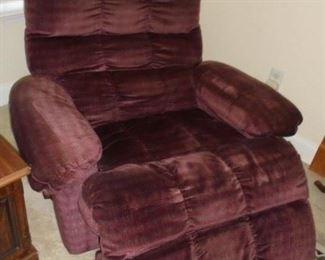 Plush burgundy recliner