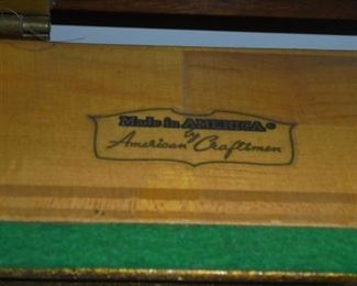 Emerson spinet piano w/bench