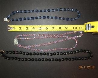 Good vintage crystal and bead necklaces